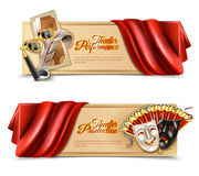 Theatre Performance Banners Set Royalty Free Stock Photo