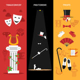 Theatre Performance Banners Set Stock Image
