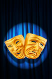 Theatre performance concept - masks. Theatre performance concept with masks Royalty Free Stock Images
