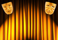 Theatre performance concept - masks Royalty Free Stock Photos