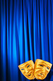 Theatre performance concept - masks Stock Photography
