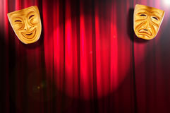 Theatre performance concept - masks. Theatre performance concept with masks Royalty Free Stock Photos