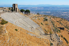 Theatre at Pergamon in Turkey. The ancient theatre at Pergamon in Turkey Stock Photos
