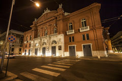 Theatre petruzzelli. A night view from street about theatre petruzzelli in bari, after restoration Stock Images