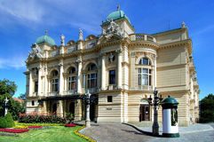 Theatre in Poland. Slowacki theatre in Cracow - Poland Stock Photography