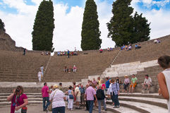 The Theatre  in Pompeii Stock Photography