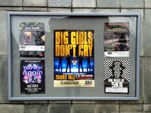 Theatre Posters in England Royalty Free Stock Image