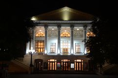 Theatre przy nocą Zdjęcia Royalty Free
