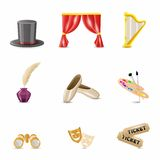 Theatre Realistic Icons Royalty Free Stock Photo