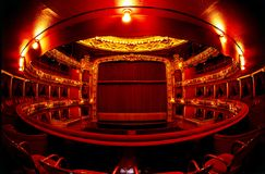 Theatre in red Royalty Free Stock Images