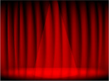 Theatre red curtain and stage Stock Photos
