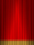 Theatre red gold curtain. Close view of a red gold curtain Royalty Free Stock Photos