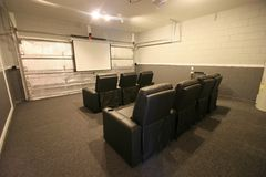 Theatre Room. A Theatre Room in a House in Florida Stock Photography