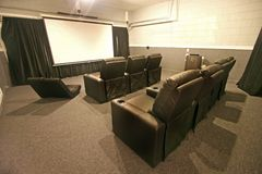 Theatre Room. A Theatre Room in a House in Florida Royalty Free Stock Images