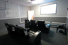 Theatre Room. A Theatre Room in a House in Florida Royalty Free Stock Photos
