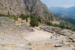 Theatre at Sanctuary of Apollo in Delphi Stock Photos