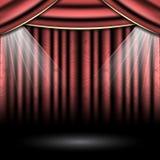 Theatre scena z światłami reflektorów Obraz Royalty Free