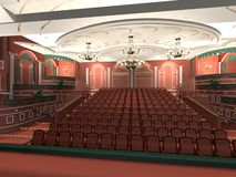 Theatre seating  Royalty Free Stock Photo