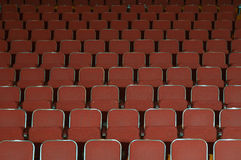 Theatre seats. Empty opera, cinema, musical or theatre seats Royalty Free Stock Photography