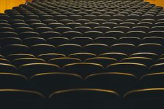 Theatre Seats Audience seat row indoor Concert Hall. Pattern background royalty free stock photo