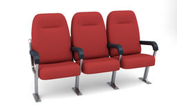 Theatre seats clipping path Stock Photo