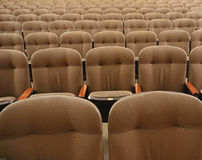 Theatre seats. A display of empty theatre seats Stock Image