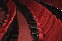 Theatre Seats. SESI`s Theatre seats in Porto Alegre, Brazil Stock Image