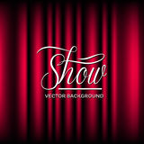 Theatre Show Vector Background. Vector background of closed curtain theatre show Stock Image