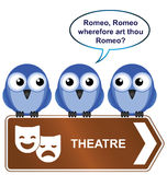 Theatre sign Stock Photography
