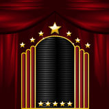 Theatre sign and curtains Royalty Free Stock Photography