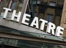 Theatre Sign, Manchester Stock Photo