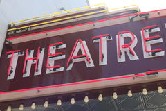 Theatre SIgn Royalty Free Stock Photo
