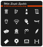 Theatre simply icons Stock Images