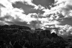 The theatre of the sky. A pic of a great landscape, taken in the Italian dolomites Royalty Free Stock Photos