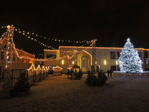 Theatre square before Christmas in Klaipeda Stock Photos