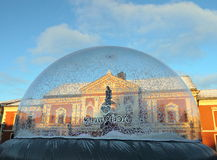 Theatre square before Christmas in Klaipeda royalty free stock photography