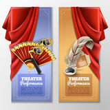 Theatre And Stage Banners Set Royalty Free Stock Photo
