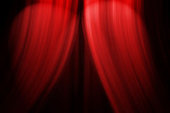 Theatre Stage Curtain. Computer generated illustration of a theatre stage curtain opening with lights Stock Photography