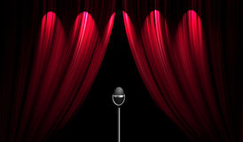 Theatre stage curtain Royalty Free Stock Images