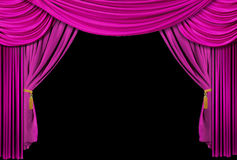 Theatre stage curtain Stock Photo