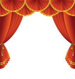 Theatre stage curtain Royalty Free Stock Photos
