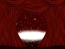 Theatre Stage Curtain Stock Photography