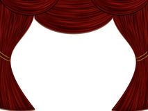 Theatre Stage Curtain Stock Image