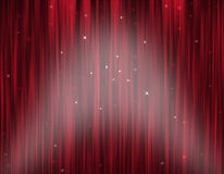 Theatre Stage Curtain. Illustration of magic theater Stock Image
