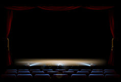 Theatre Stage and Curtains Royalty Free Stock Photos