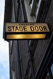 Theatre Stage Door Stock Photo