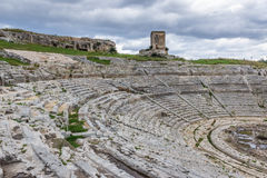 Theatre in Syracuse Royalty Free Stock Photo
