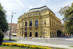 Theatre in Szeged. National Theatre in Szeged, Hungary royalty free stock photography