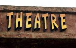 Theatre. Theater. sign Royalty Free Stock Photo