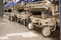 Theatre trolleys empty in corridor Stock Image